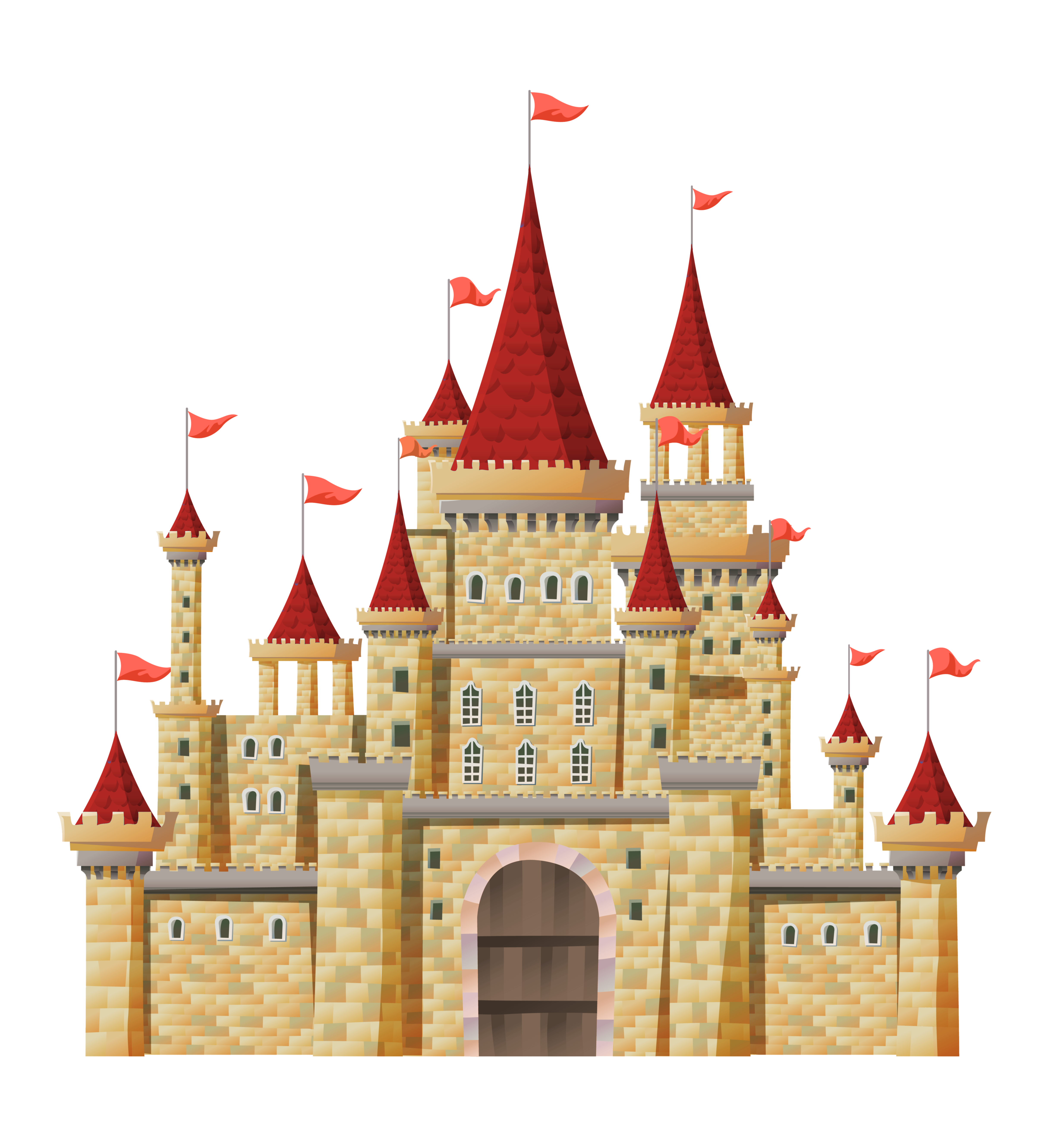 Transparent Castle PNG Clipart | Gallery Yopriceville - High ... svg black and white stock