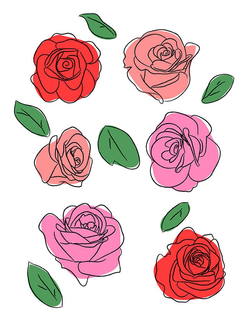 Castillian rose clipart jpg royalty free stock Hand Drawing Rose at PaintingValley.com | Explore collection of Hand ... jpg royalty free stock