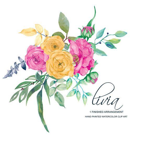 Pin by Estelle Hamman on 1. Art - Floral | Clip art, Watercolor rose ... clip art free download