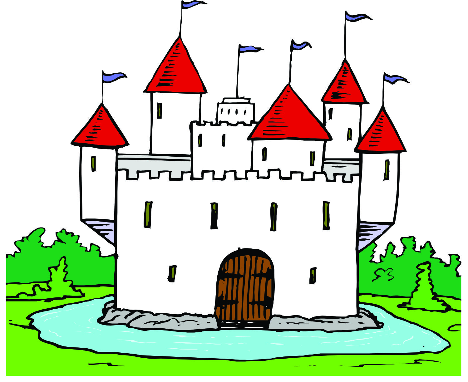 Castle cartoon clipart black and white stock Free Cartoon Castle Pictures, Download Free Clip Art, Free Clip Art ... black and white stock