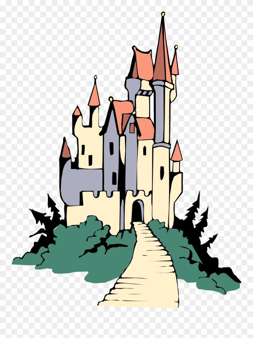 Castle cartoon clipart banner stock Disney Castle Disneyland Castle Clipart Free Images - Castle On Hill ... banner stock