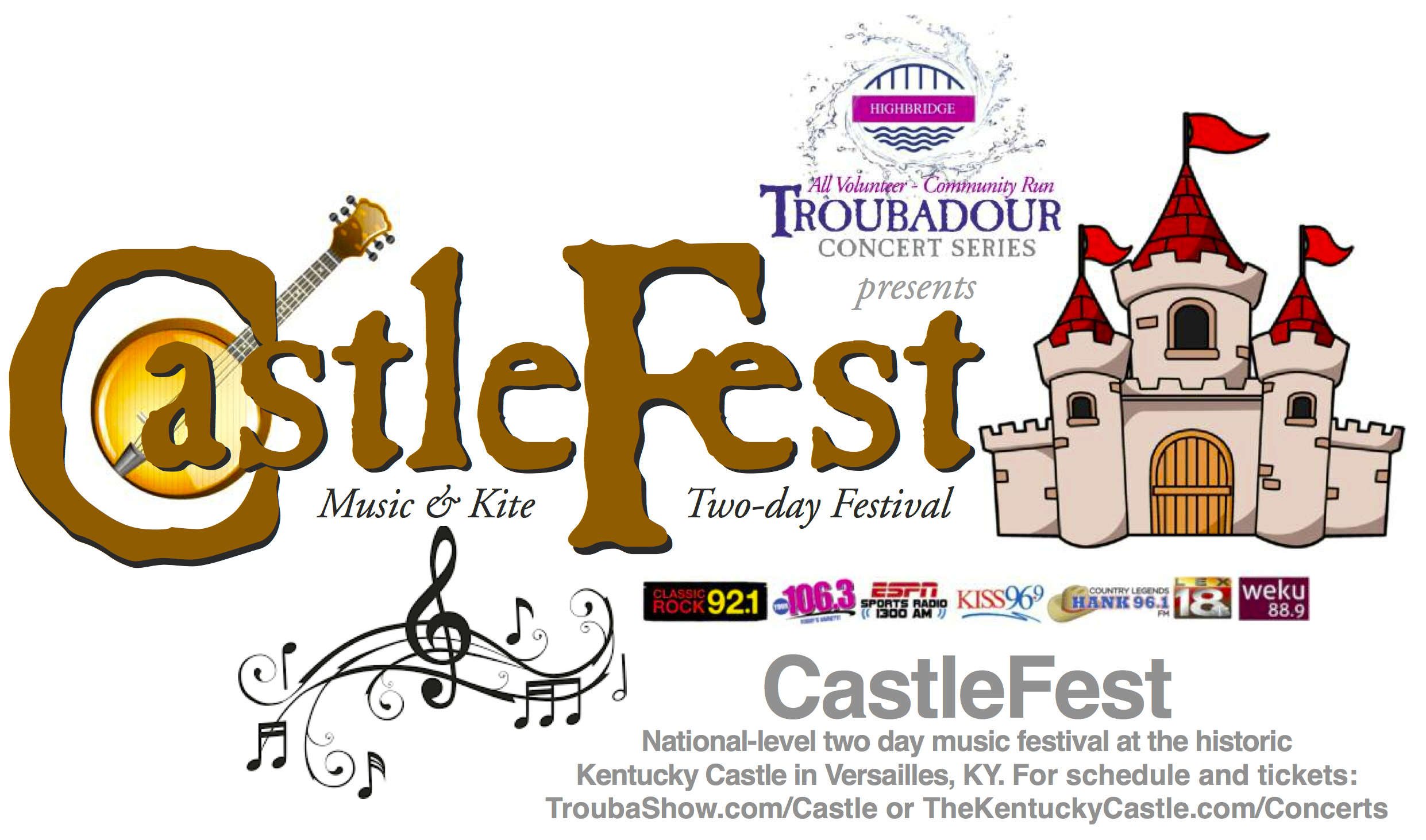 Castle country rocks clipart svg library library CastleFEST - Troubashow.com svg library library