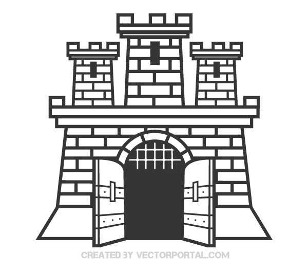 Castle door clipart black and white jpg library download Castle Vector Clip Art Image | Free Vectors | Castle vector, Vector ... jpg library download