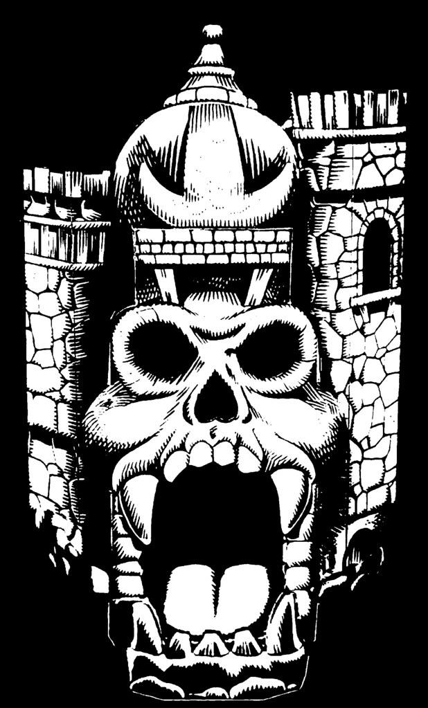 Castle grayskull clipart banner transparent download Grayskull Black and White | I nabbed this art from a vintage… | Flickr banner transparent download