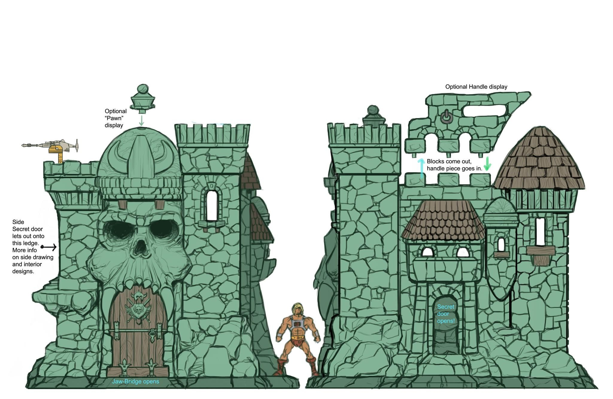 Castle grayskull clipart clip art freeuse download Diagram of Castle Grayskull | Other stuff I didn\'t know where to put ... clip art freeuse download