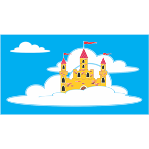 Castle in the clouds clipart jpg freeuse Floating Cloud Castle clipart, cliparts of Floating Cloud Castle ... jpg freeuse