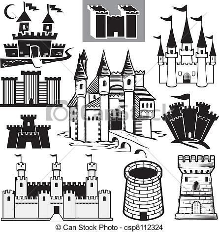Castle logo vector clipart graphic library download EPS Vector of Castle Collection - Clip art collection of castle ... graphic library download