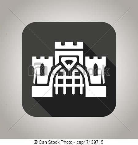 Castle logo vector clipart clipart library download Vector Clip Art of Black flat castle icon for web and mobile ... clipart library download
