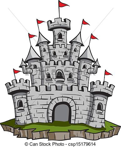 Castle logo vector clipart svg freeuse Vector Clip Art of Old Castle - Old medieval stone castle ... svg freeuse