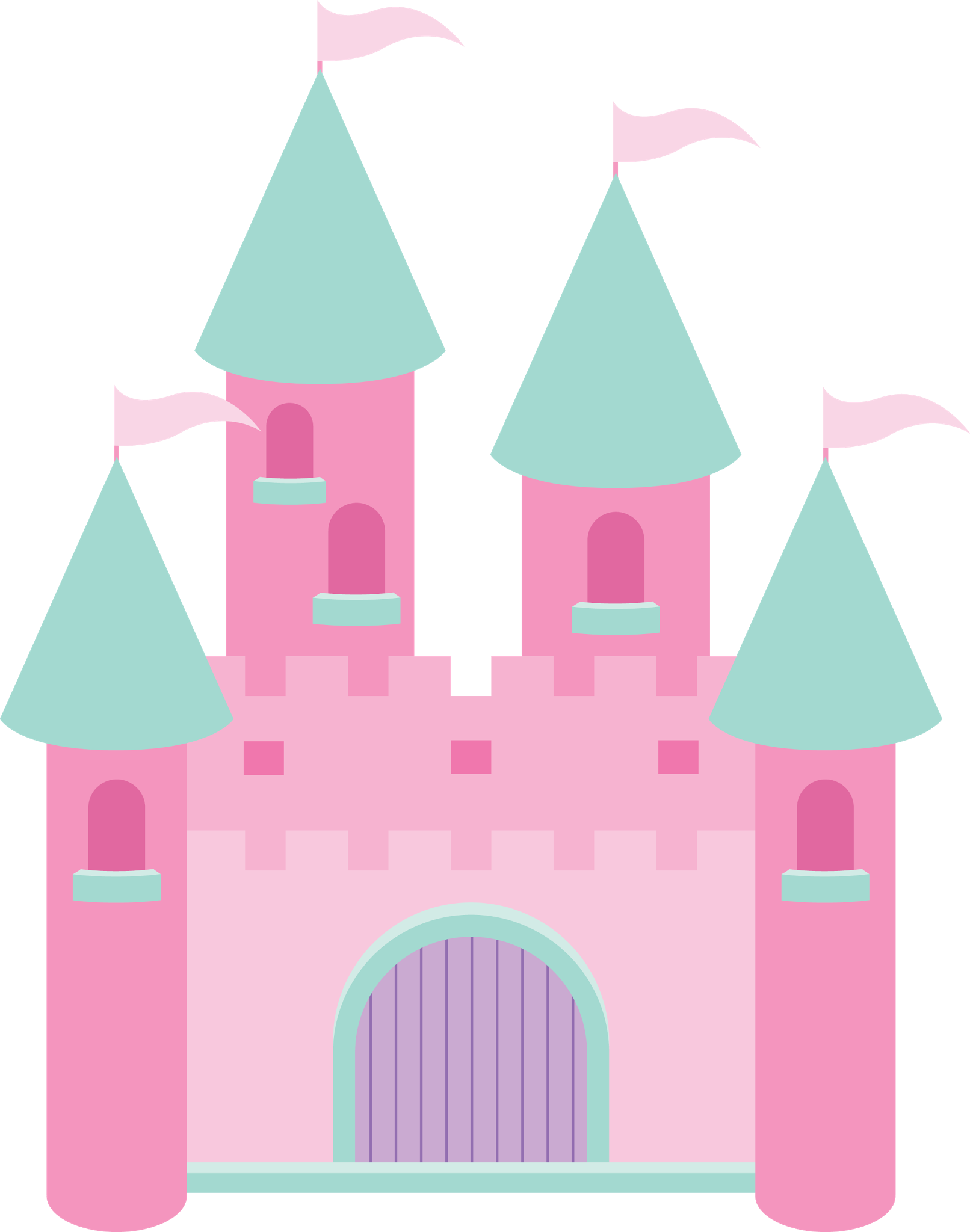 Castle with crown clipart free stock Pin by Marina ♥♥♥ on Princesas II | Pinterest free stock