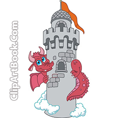 Castle with dragon clipart clip art transparent Download Free Clip art vector | The Dragon Tower Vector Clip-art clip art transparent