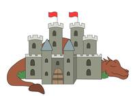 Castle with dragon clipart free library Free Castles Clipart - Clip Art Pictures - Graphics - Illustrations free library