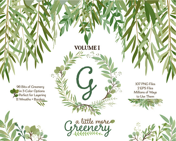 Casual branch wreath clipart clip art transparent download Greenery Clipart | Leaf ClipArt | Leaf Wreath, Botanicals for ... clip art transparent download