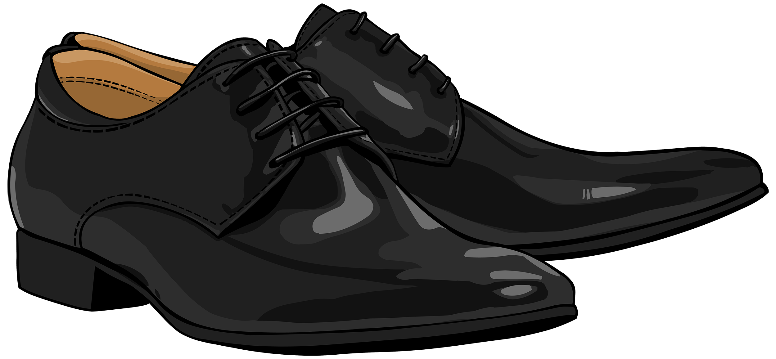 Casual shoes clipart png black and white library Black Men Shoes PNG Clipart - Best WEB Clipart png black and white library