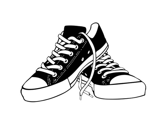Casual shoes clipart clipart transparent library Sneaker Shoes Casual Training Isolated Fashion Sport Style Footwear ... clipart transparent library