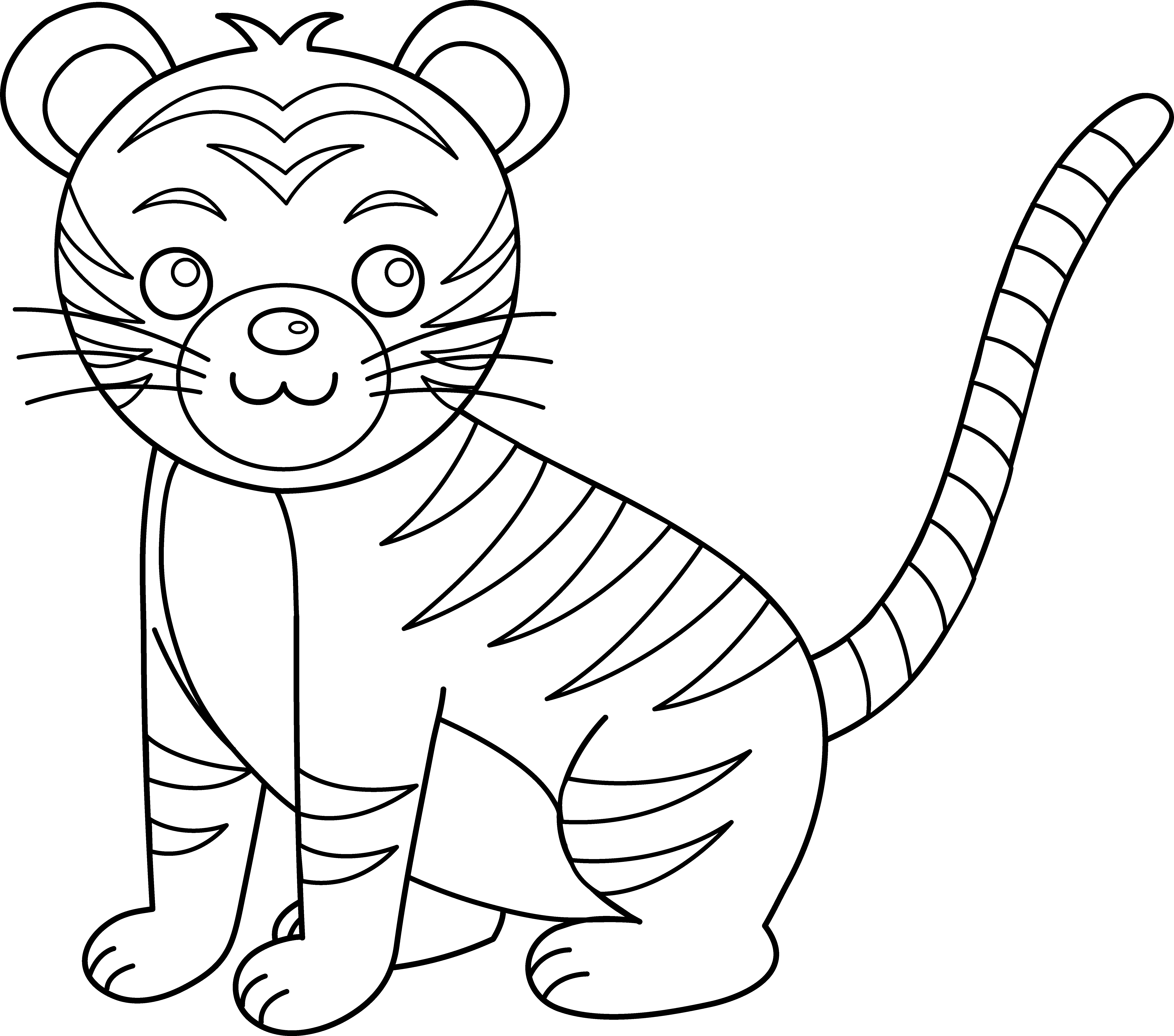 Cat clipart coloring page picture free library Beauty Cat And Kitten Clipart Black And picture free library