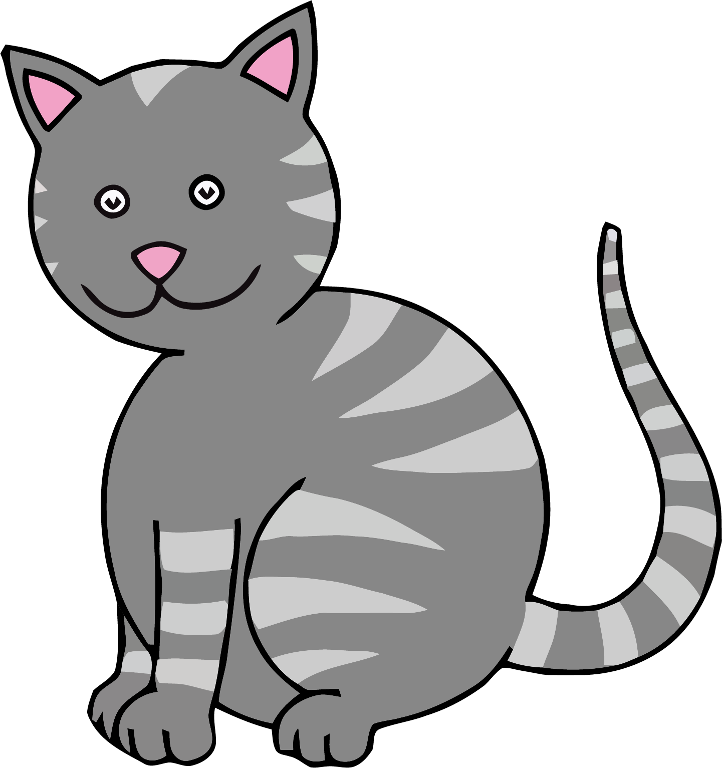 Clipart cat eating vector freeuse library Gray Color Cat Clipart Png | Clipartly.com vector freeuse library