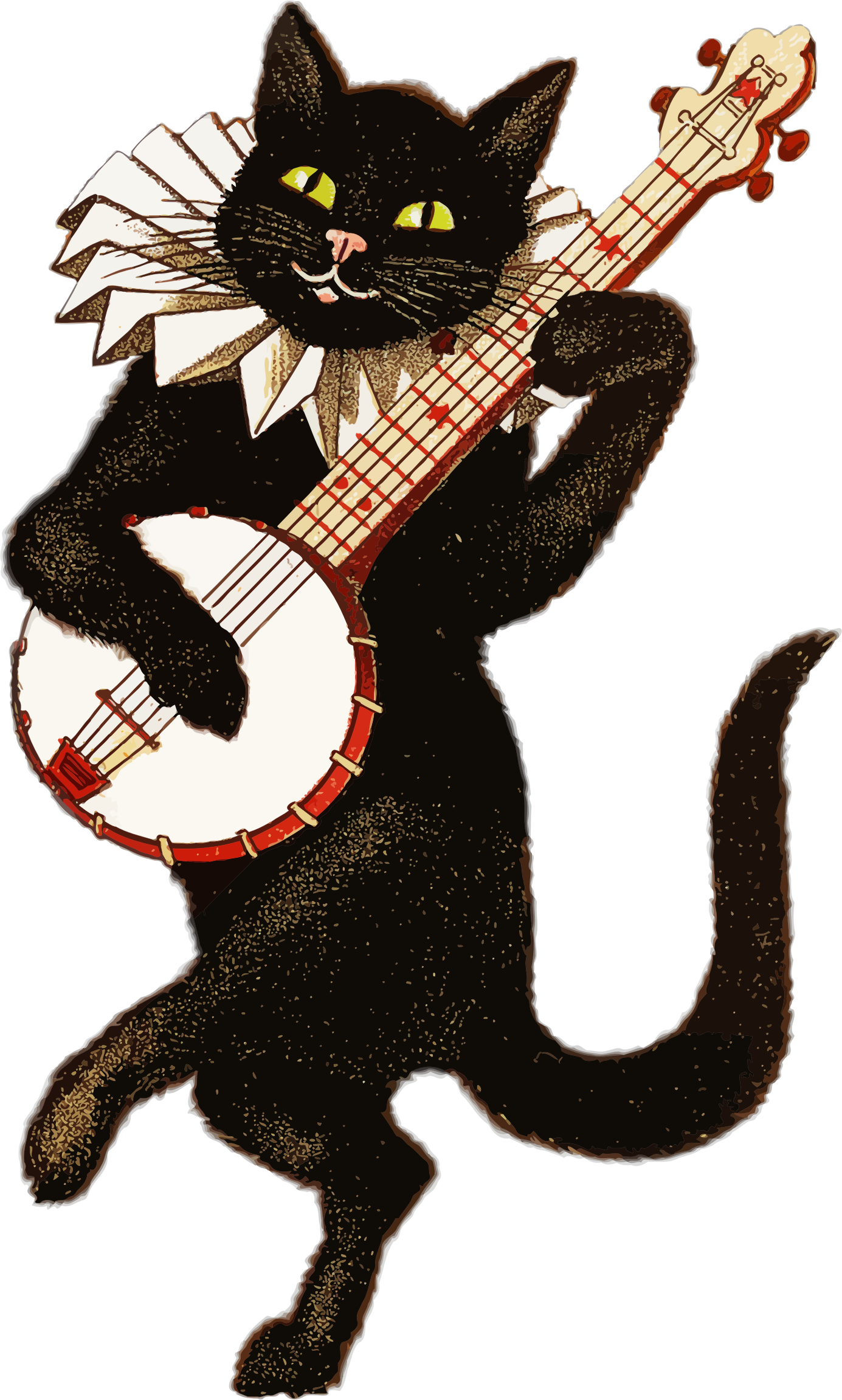 Confused cat clipart png stock vintage Animal Playing Music illustration | Clipart - Vintage Cat ... png stock