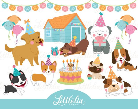 Cat and dog birthday party clipart free clip library Dog party - party clipart - dog clipart - 17034 in 2019 | Products ... clip library