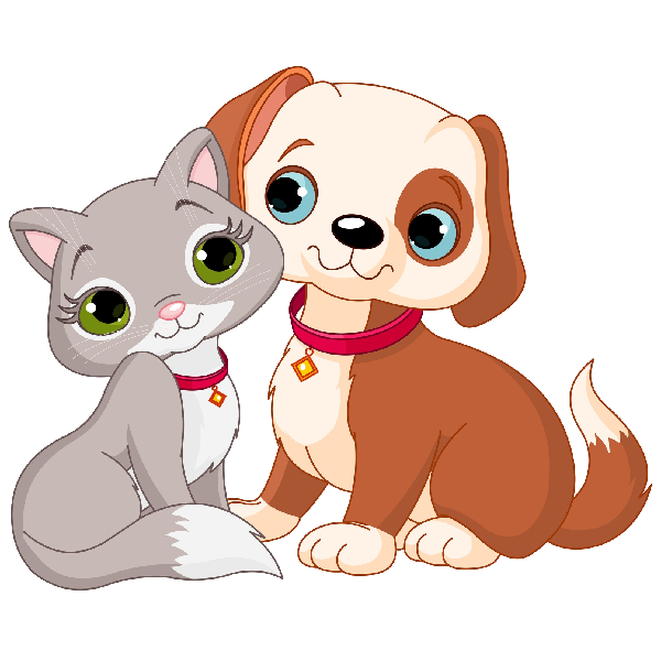 Funny cat cartoon clipart png black and white Cat And Dog Clipart - Cartoon Animal Images png black and white