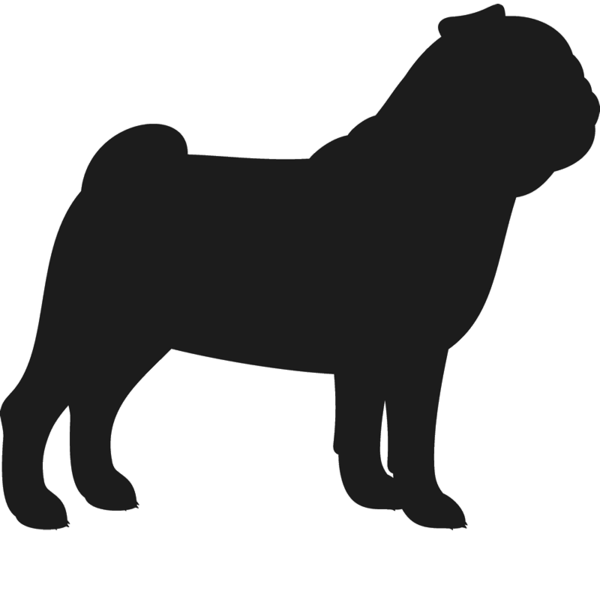 Cat and dog sitting side by side silouette clipart clip art freeuse stock Pug Dog Silhouette at GetDrawings.com | Free for personal use Pug ... clip art freeuse stock