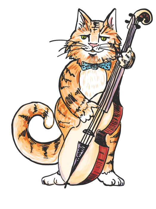 Cat and the fiddle clipart black and white download hepcat-with-white - Hubbard Hall black and white download