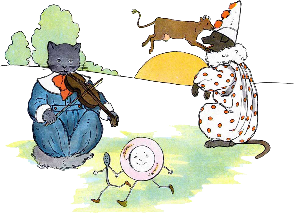 Cat and fiddle clipart banner transparent stock HeyDiddle - 4MyLearn banner transparent stock