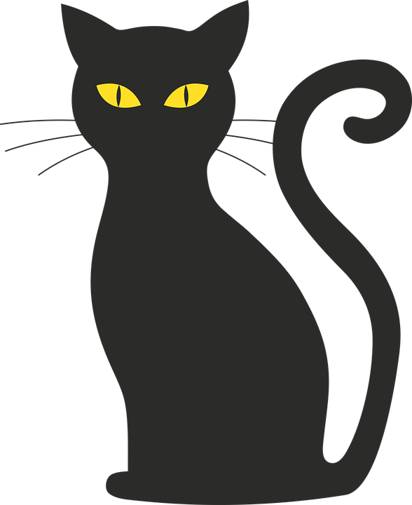 Public domain cat clipart vector library download Obrázok zadarmo na Pixabay - Mačka, Halloween, Silueta, Mačička ... vector library download