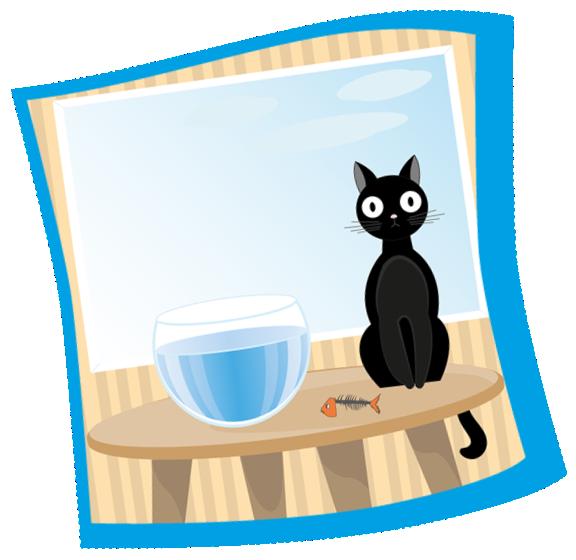 Cat and fishbowl clipart black and white Mid Atlantic Cat Hospital Blog - Feline Hyperthyroidism black and white