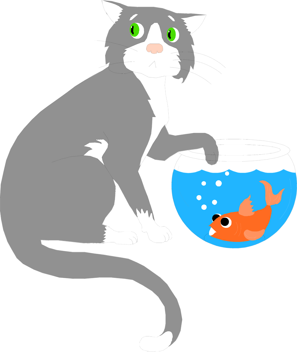 Cat bowl clipart picture library Fish Bowl Clipart at GetDrawings.com | Free for personal use Fish ... picture library