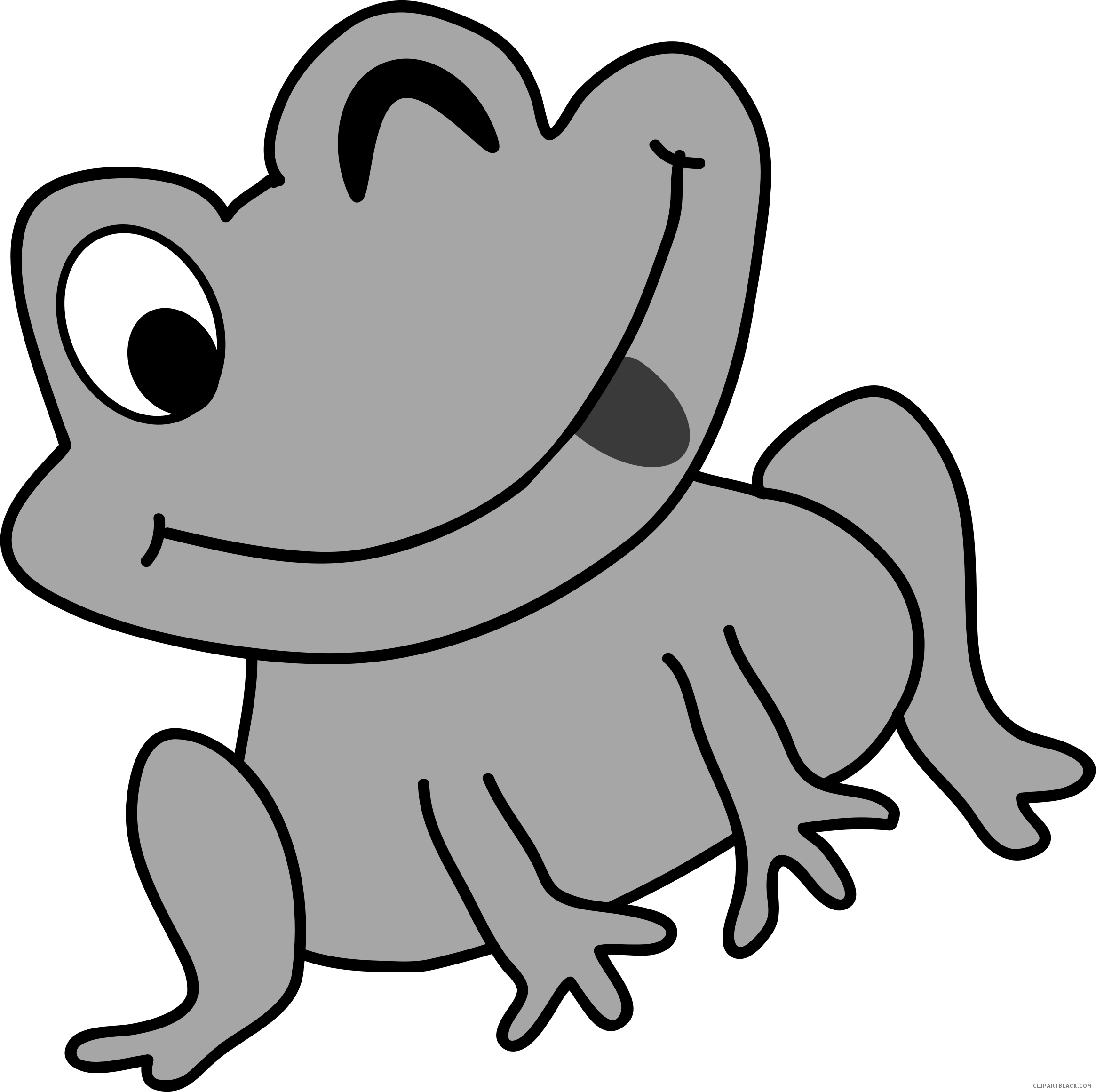 Cat and frog clipart clip freeuse Grayscale Frog Clipart - Page 2 of 4 - ClipartBlack.com clip freeuse