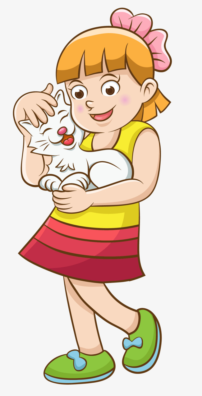 Cat and girl clipart clip art royalty free stock Free Girl And Cat Clipart Image 0515-1004- #419289 - Clipartimage.com clip art royalty free stock