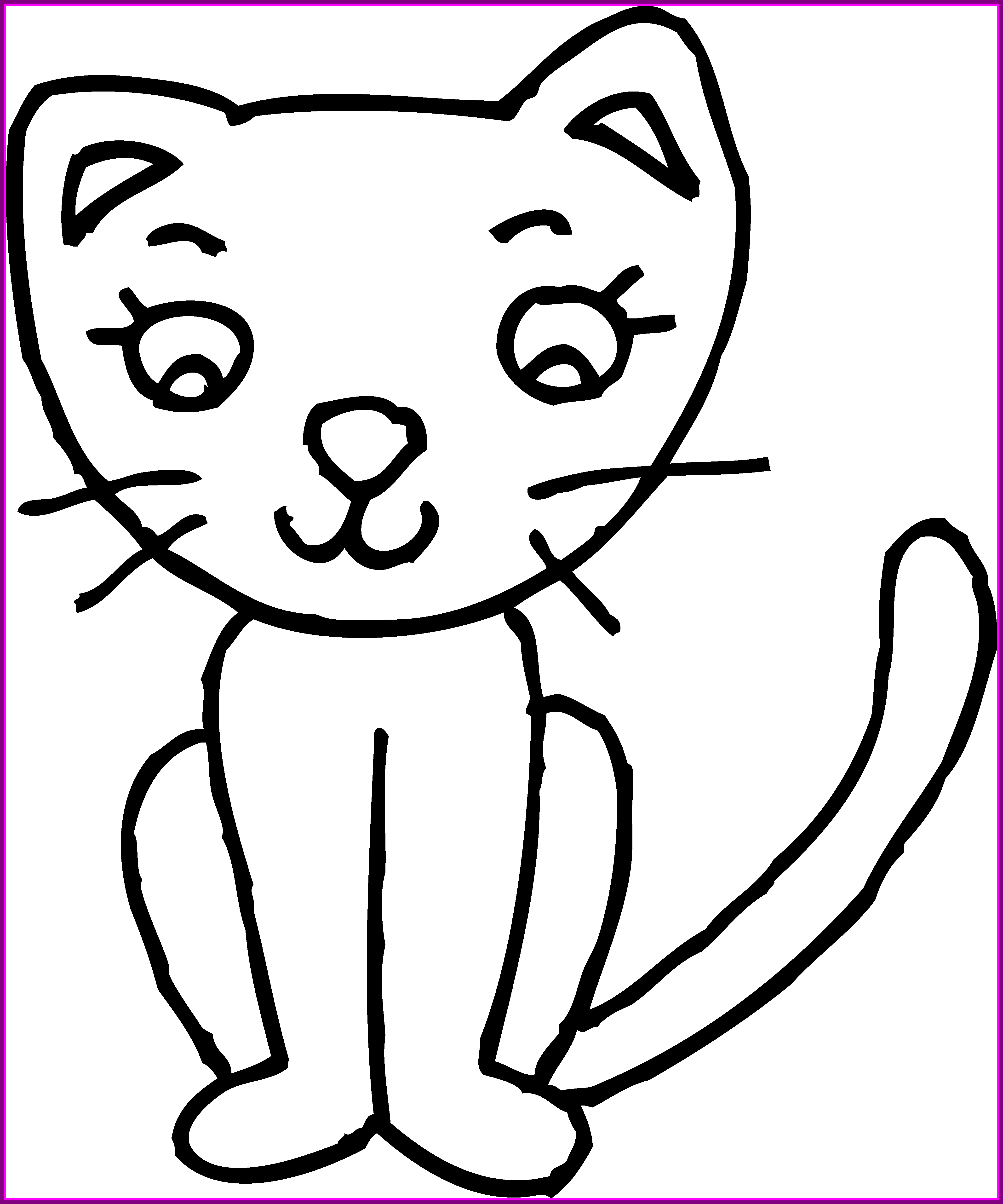 Cat drawing clipart banner black and white stock Best Clip Art Of A Cat Kitten Cute Clipart Kid U Lemonize Picture ... banner black and white stock