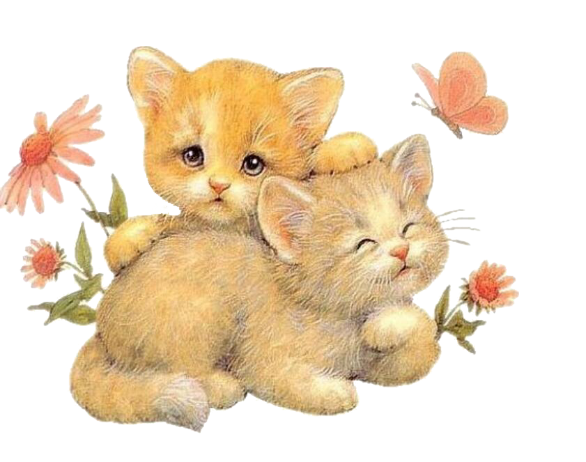 Cat on bed clipart banner library download Hug Love Clip art - Two kittens 841*663 transprent Png Free Download ... banner library download