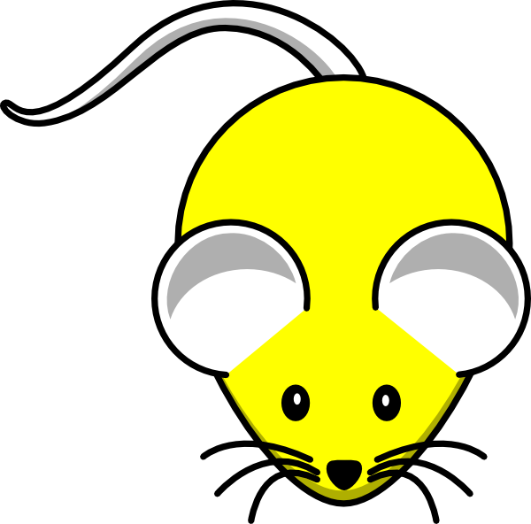 Cat and mouse clipart jpg transparent library Yellow Mouse Clip Art at Clker.com - vector clip art online, royalty ... jpg transparent library