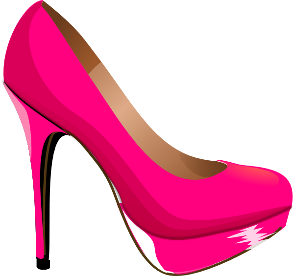 House shoes clipart clipart free library kids pink heels clip art | Pink Highheal Shoe clip art - vector clip ... clipart free library