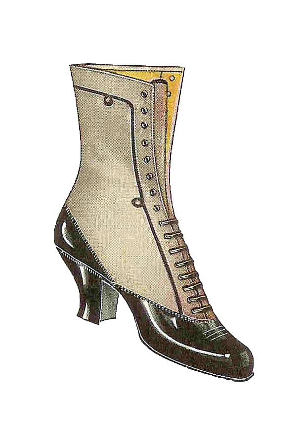 Cat and shoe clipart image download womens+boots+images | ... Shoe Clip Art: Vintage 1917 Women's Boot ... image download