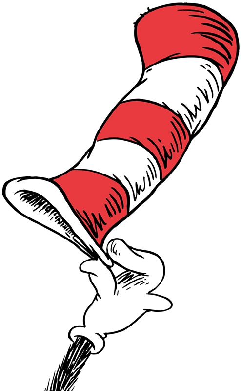 Free at getdrawings com. Dr seuss cat in the hat clipart black and white