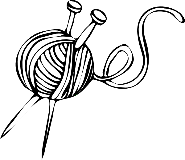 Thread with needle clipart coloring book graphic free stock Yarn and Knitting Needles Clip Art | Yarn | Pinterest | Clip art and ... graphic free stock