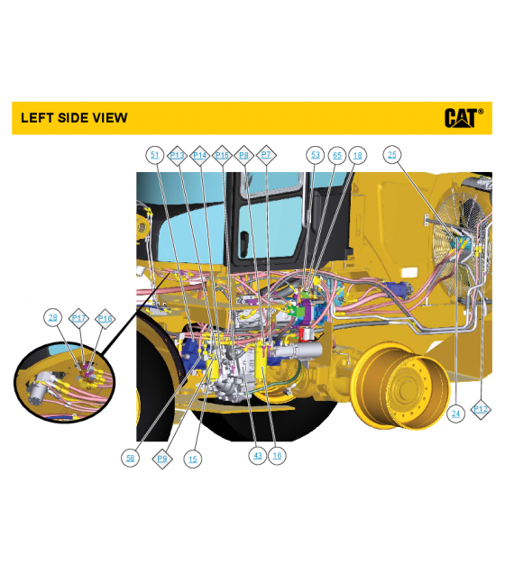 Cat backhoe clipart image transparent stock Download CAT CATERPILLAR 938K WHEEL LOADER HYDRAULIC SCHEMATIC ... image transparent stock