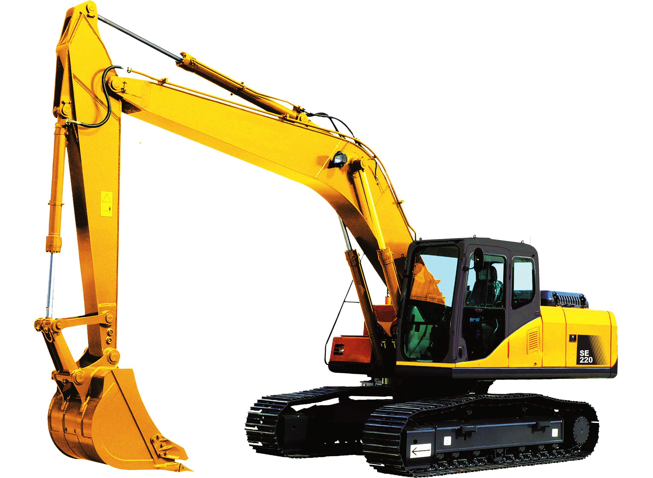 Cat backhoe clipart banner stock Excavator PNG images free download banner stock