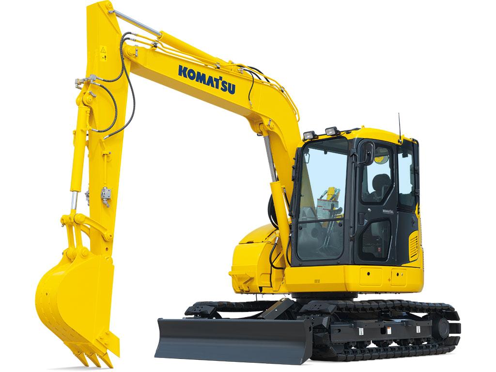 Cat backhoe clipart png Excavators   Komatsu America Corp png