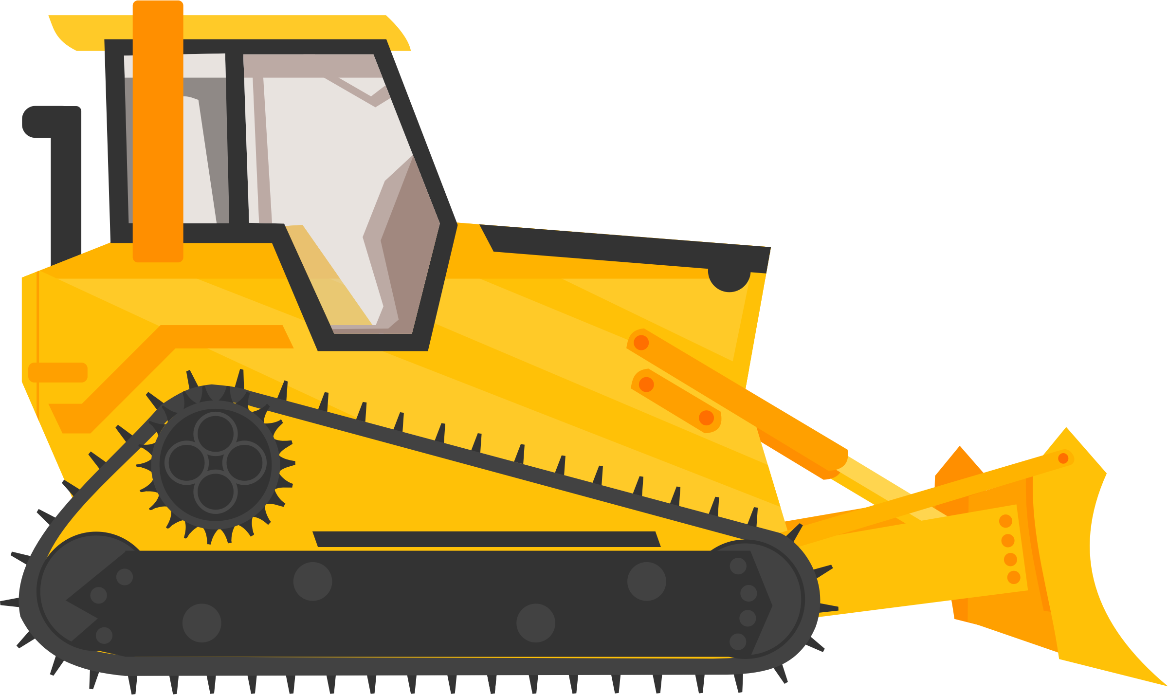 Cat backhoe clipart banner library library Big Bulldozer Clip Art - Best Graphic Sharing • banner library library
