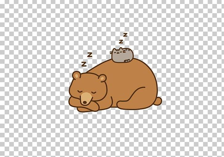Cat Bear Pusheen Animation PNG, Clipart, Animals, Bea, Bears, Bed ... clip