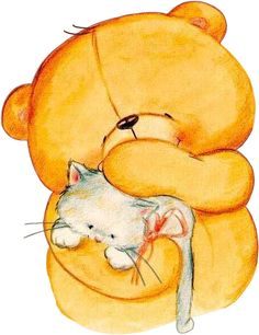 Cat bear clipart clipart free stock 44 Best Cat Art - Bears images in 2018 | Etchings, Drawings of cats ... clipart free stock
