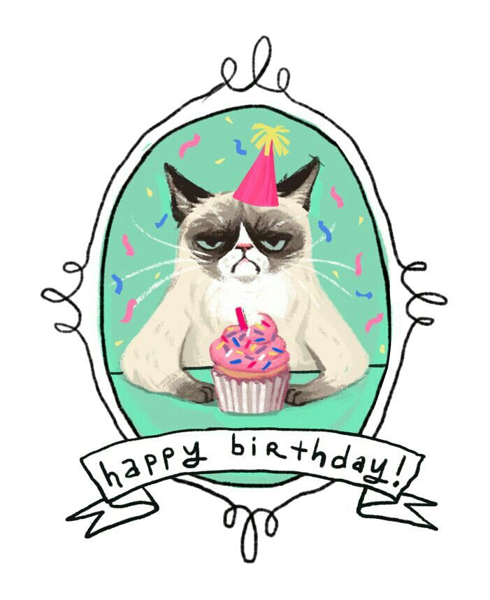 Cat birthday clipart free clip art transparent stock Grumpy cat happy birthday | Happy Birthday | Grumpy cat birthday ... clip art transparent stock