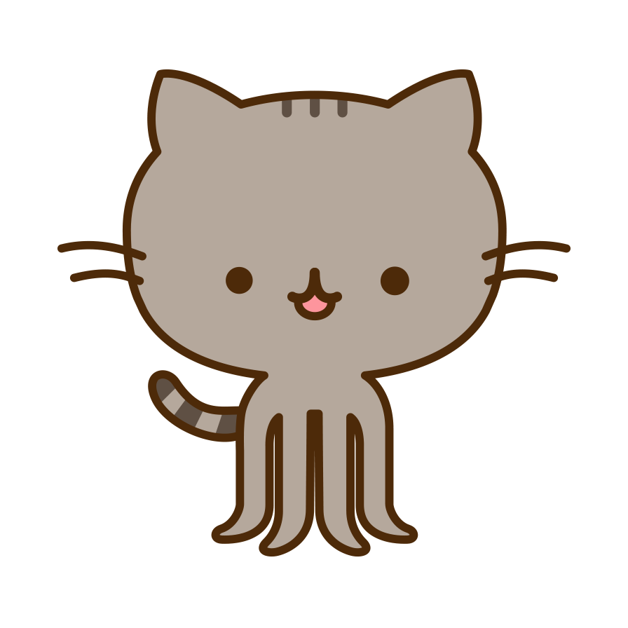 Nerdy cat clipart picture freeuse library the Pusheencat | Octocat | Pinterest | Pusheen picture freeuse library