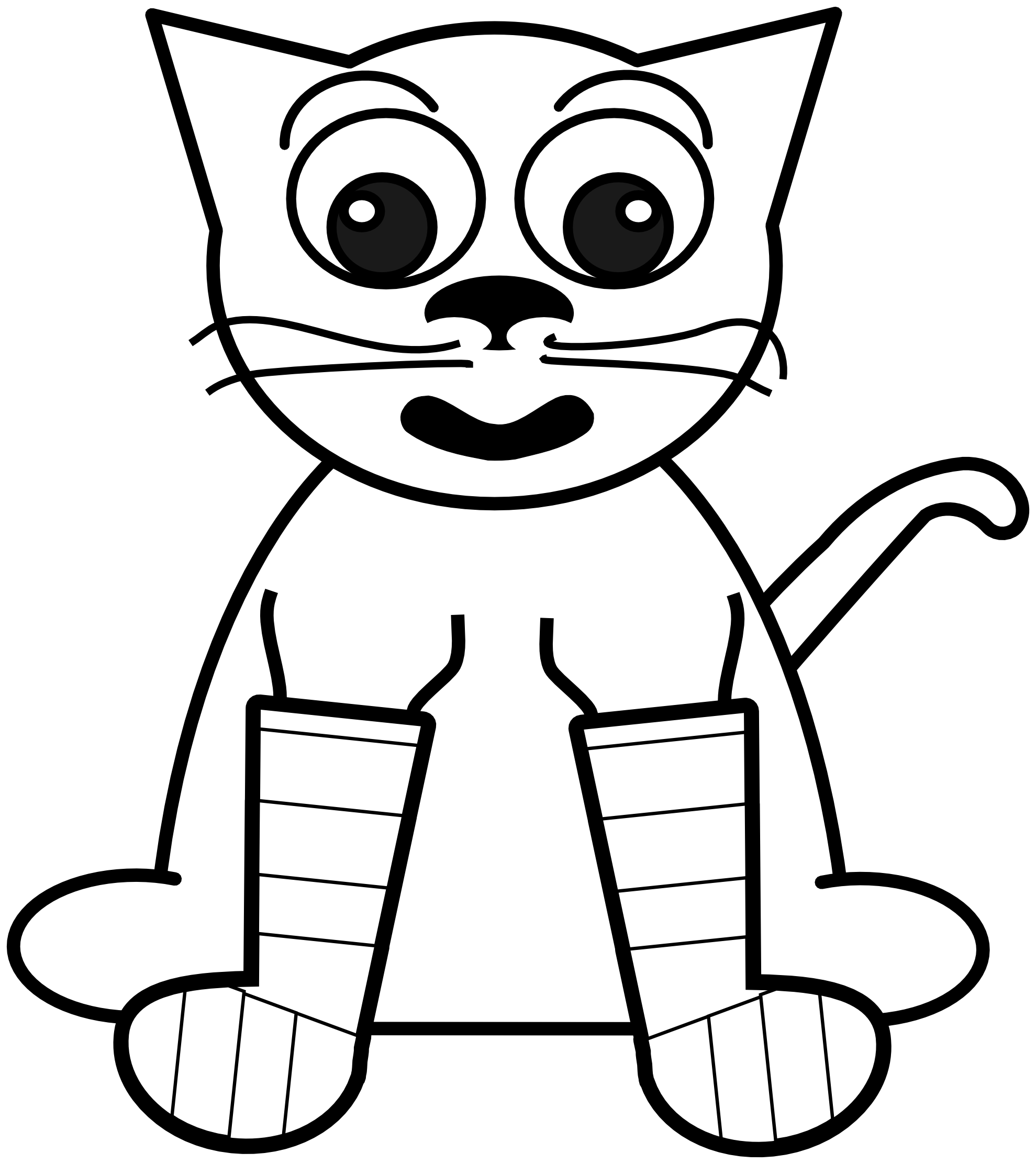 White book clipart clip art black and white Cat Black And White Coloring Page. Awesome Webkinz Cat Coloring ... clip art black and white