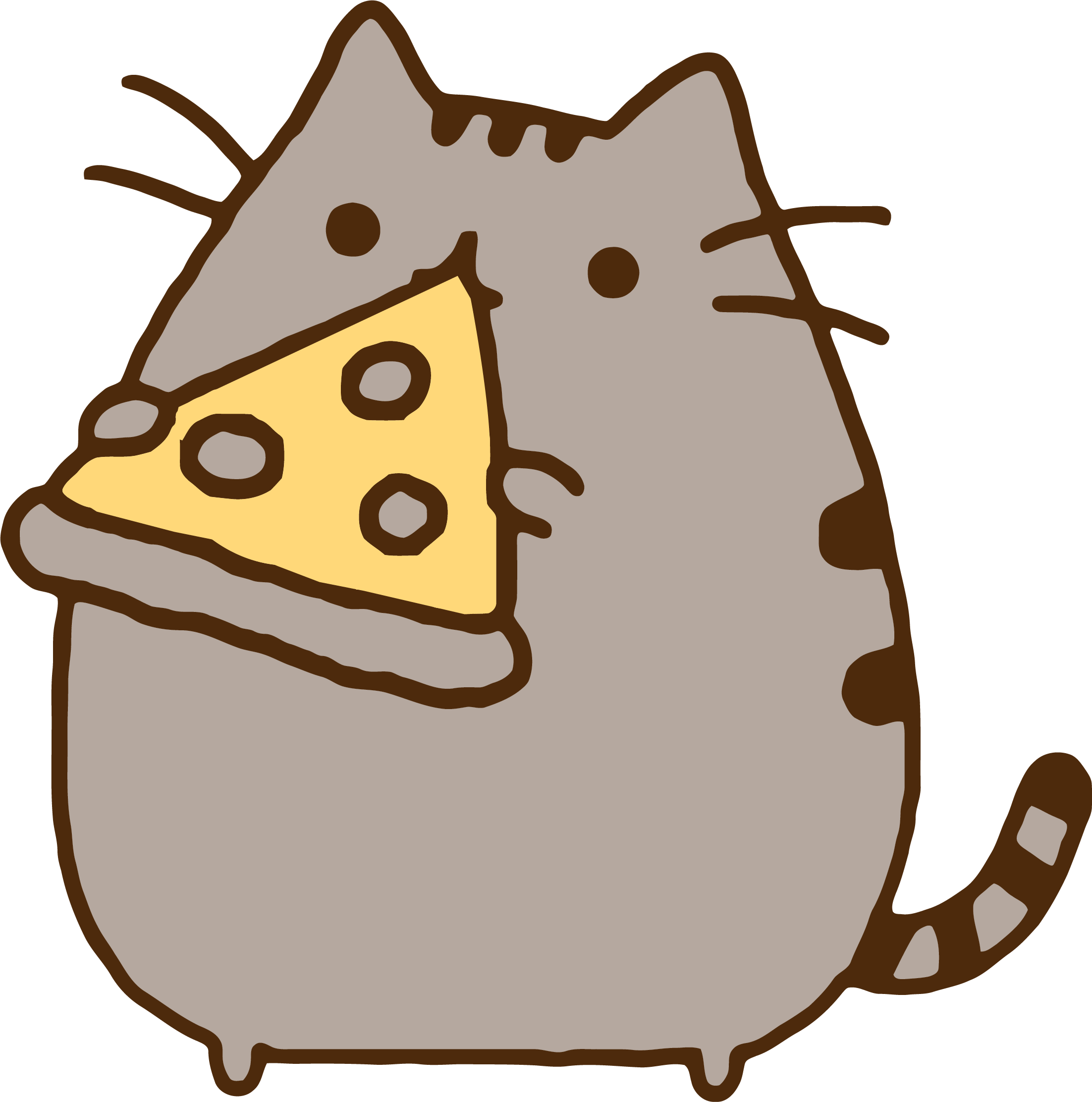 Clipart cat eating banner free Cat Eating Pizza Clipart & Cat Eating Pizza Clip Art Images #3963 ... banner free