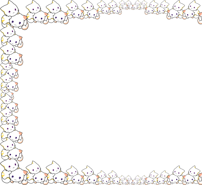 Cat border clipart image library Clipart - Cuddly Cat Frame - A4 image library